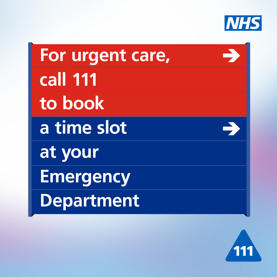 NHS111 graphic